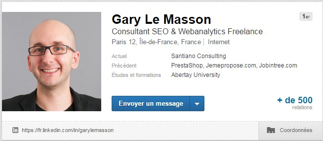 Exemple de photo de profil LinkedIn de Gary Le Masson