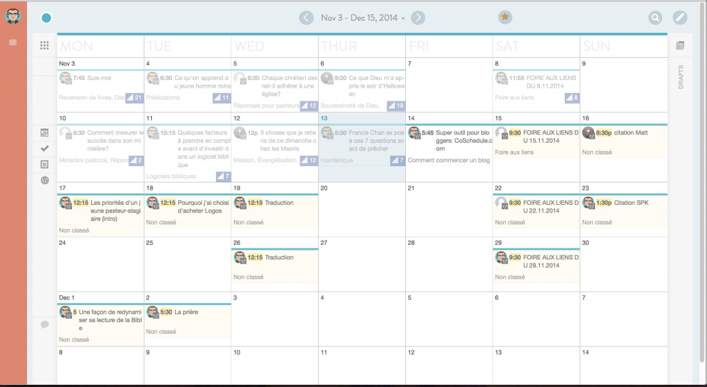 CoSchedule: Calendrier éditorial pour WordPress