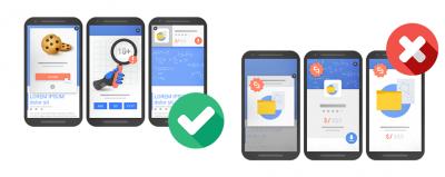 pénalisation des interstitiels et pop-ups sur mobile