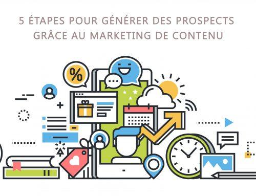 5 étapes pour générer des prospects grâce au marketing de contenu