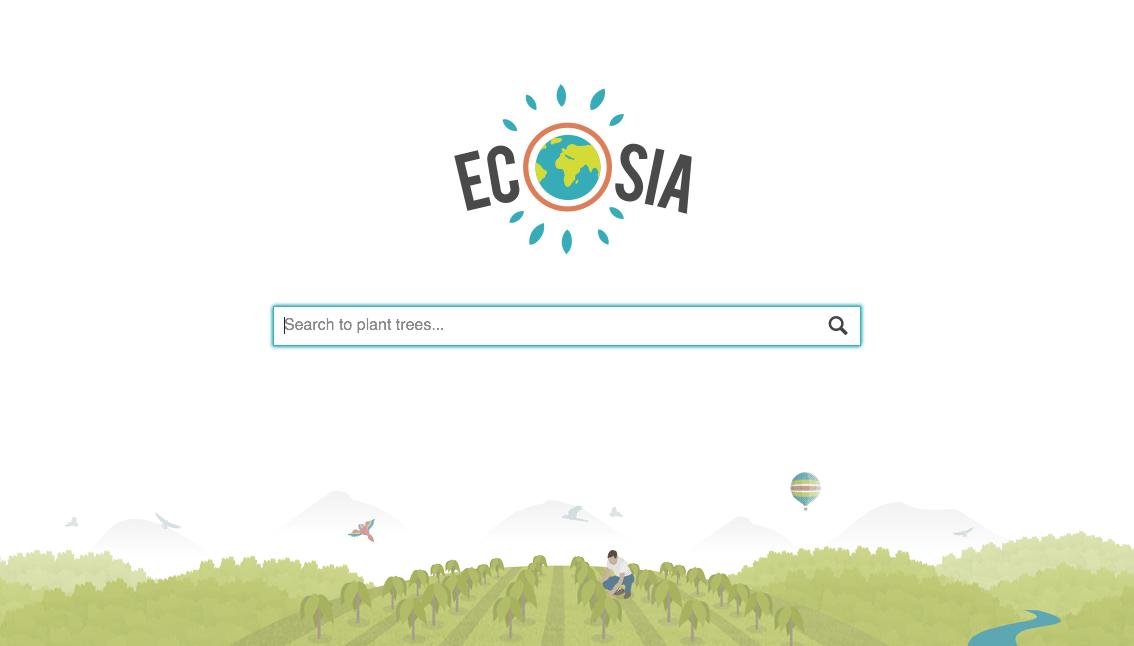 Eocsia - moteur de recherche qui plante des arbres