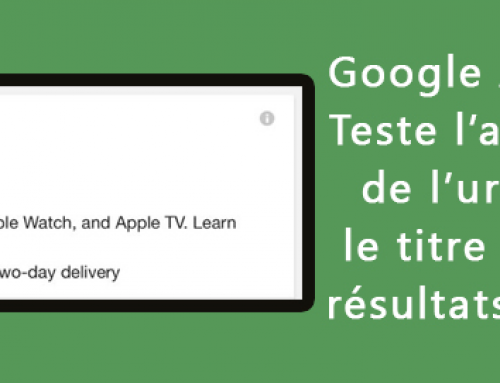 Google AdWords teste un nouveau affichage des urls
