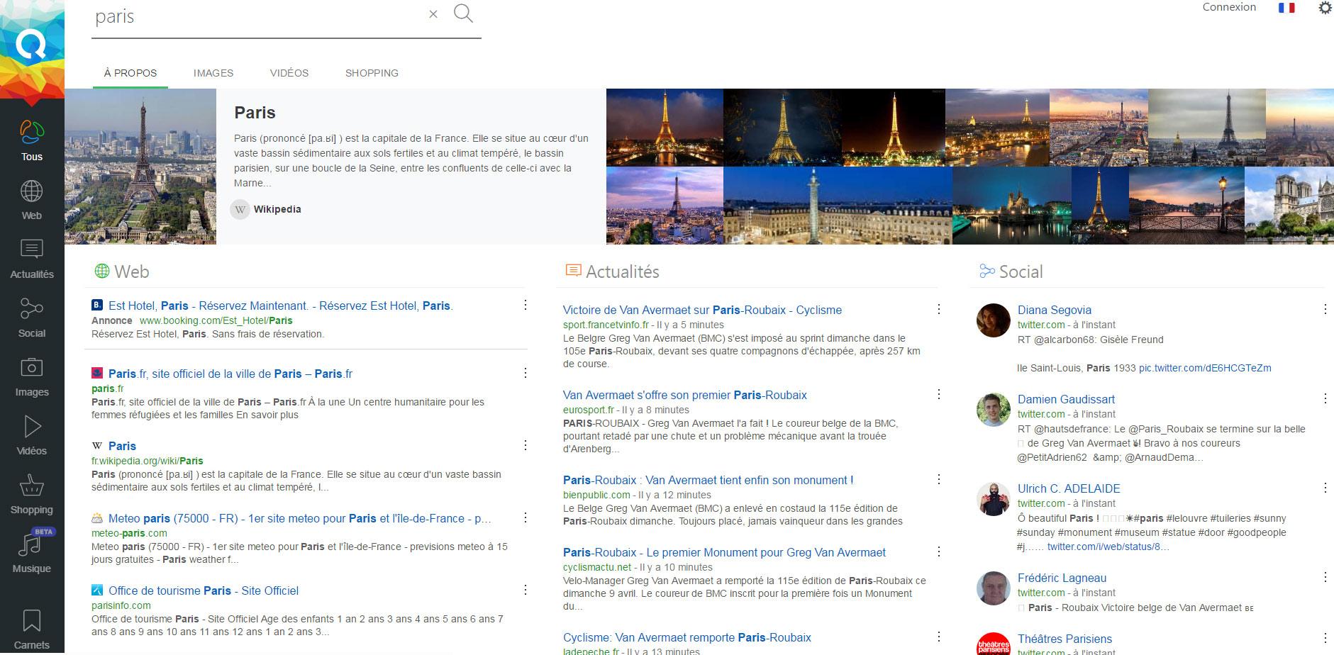 QUANT, le moteur de recherche français qui ne s'intéresse pas à votre vie privée