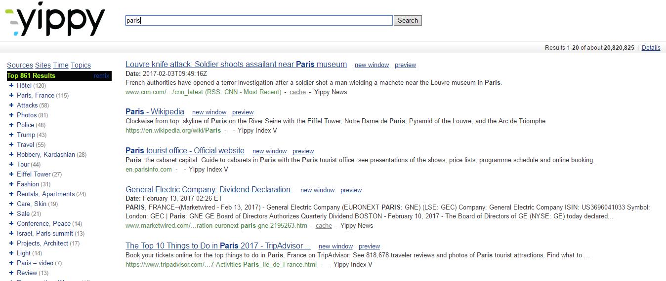 yippy moteur de recherche