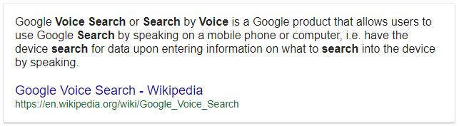 exemple recherche vocale google