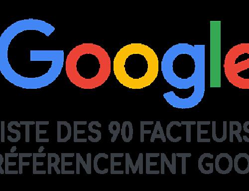 Liste des 90 facteurs de référencement Google